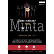 Winelovers Webshop 10.000 Ft értékű ajándékutalvány