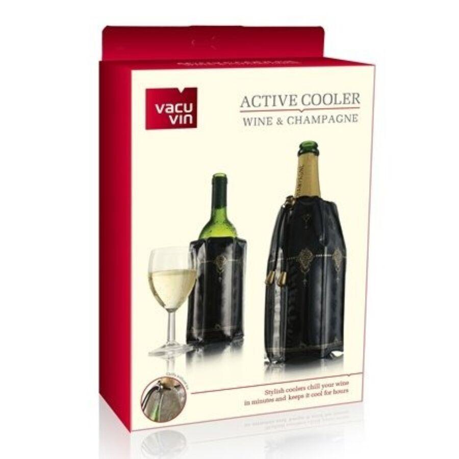 Vacu Vin bor- és pezsgőhűtő mandzsetta szett Classic (0,75l)