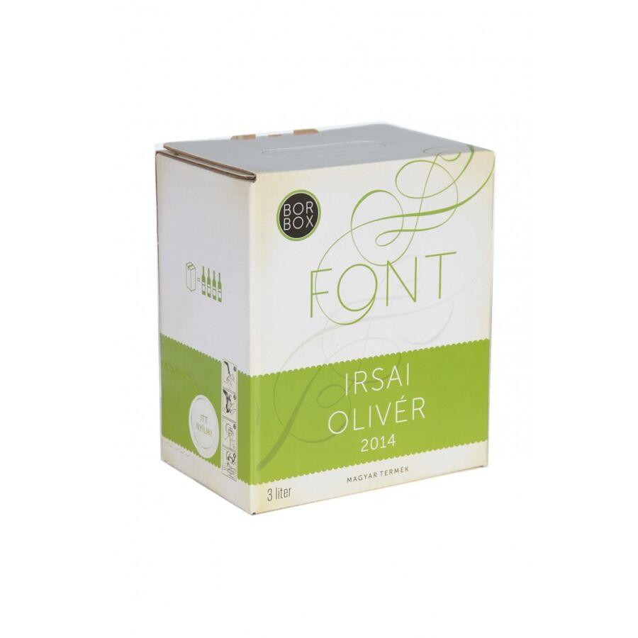 Font Pincészet Irsai Olivér 3L Bag-in-Box 2019 (3l)