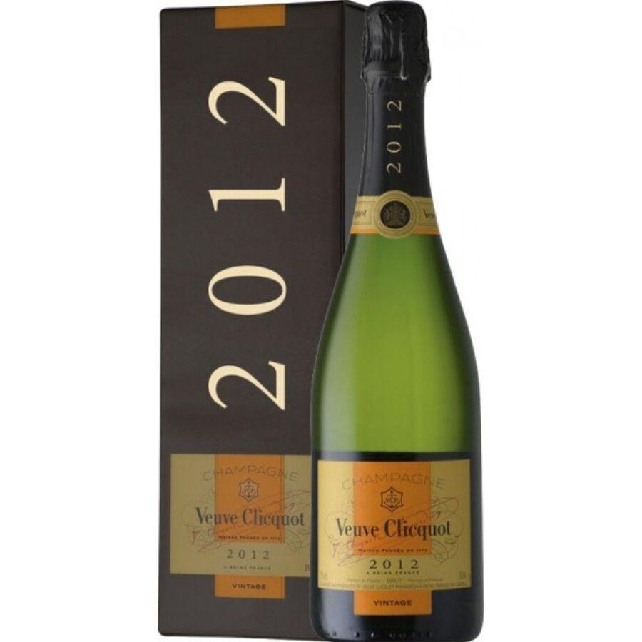 Veuve Clicquot Vintage Brut Díszdobozban 2012 (0,75l)