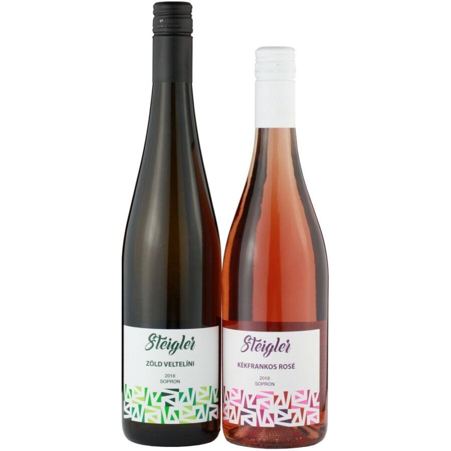 Steigler Zöld Veltelini + Steigle Rozé (ajándék) 2018 (1,5l)