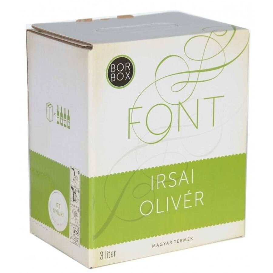 Font Pincészet Irsai Olivér 2020 (3L Bag-in-Box)