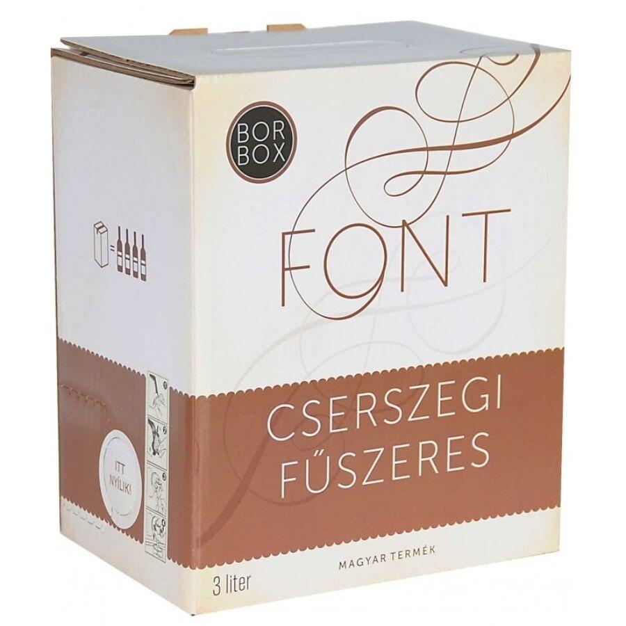 Font Pincészet Cserszegi Fűszeres 2020 (3L Bag-in-Box)