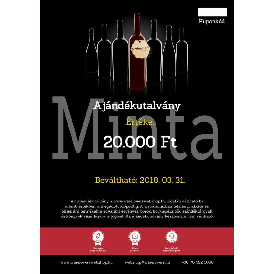 Winelovers Webshop 20.000 Ft értékű ajándékutalvány