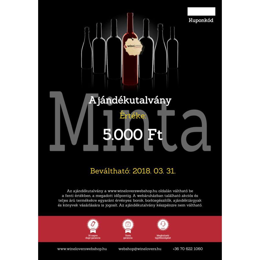 Winelovers Webshop 5.000 Ft értékű ajándékutalvány